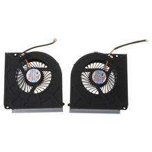 Laptop Cooler Cooling Fan for MSI GT73 GT73VR GT73EVR GT75VR 17AX CPU GPU