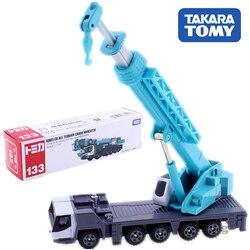 Tomica tipo longo takara tomy no.133 kobelco todo o terreno guindaste kmg5220 escala 1/113 construção veículo diecast metal modelo brinquedos