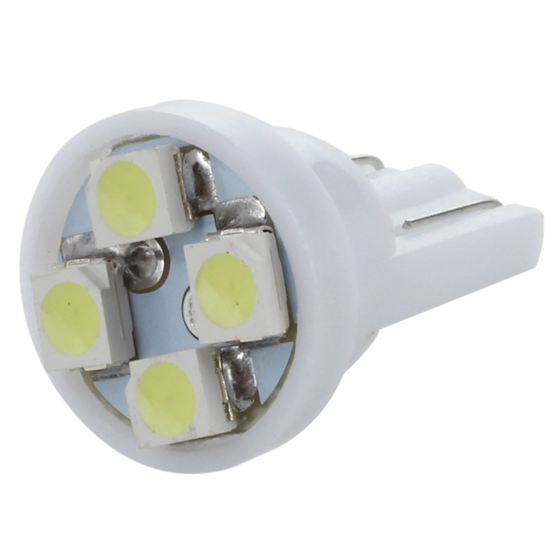 New 20x <font><b>4</b></font> <font><b>SMD</b></font> LED Xenon White <font><b>T10</b></font> 501 W5W Car Side Wedge Interior Light Lamp Bulb image