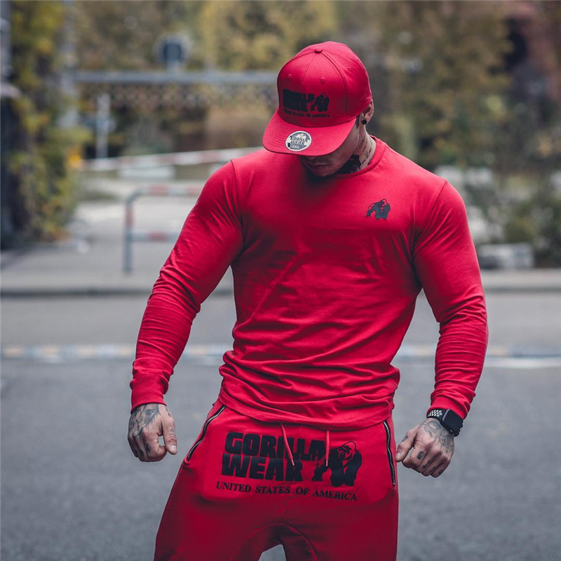 2019 Mens Jogger Workout Tight Long Sleeve T-shirt Man Gyms Fitness Fashion T Shirt Male Casual Fashion Tees Tops