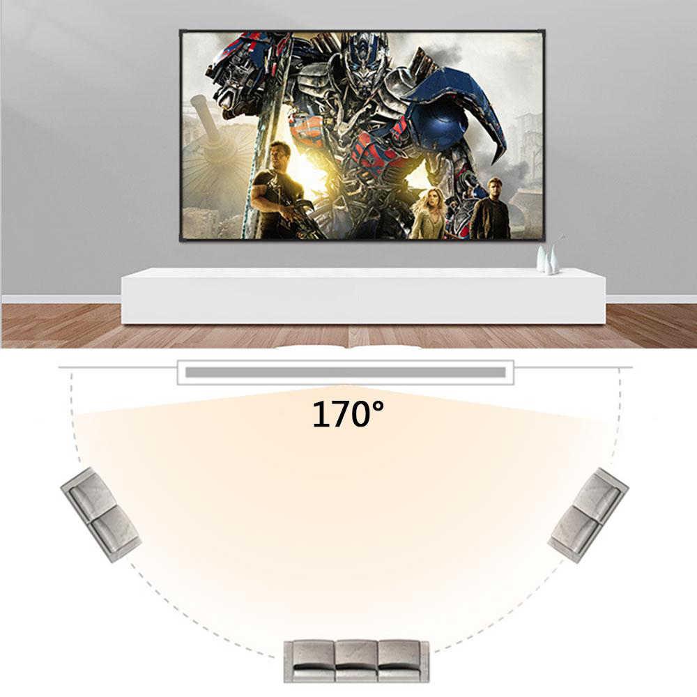 Salange ekranlar projektör taşınabilir, 60 100 120 inç 16:9, polyester açık film ekranı seyahat için ev sineması DLP projektör