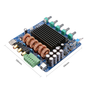Image 2 - AIYIMA TDA7498E 160W*2+220W 2.1 Channel Power Amplifier Board Amplificador Subwoofer Sound Amplifiers DIY For Home Car Audio