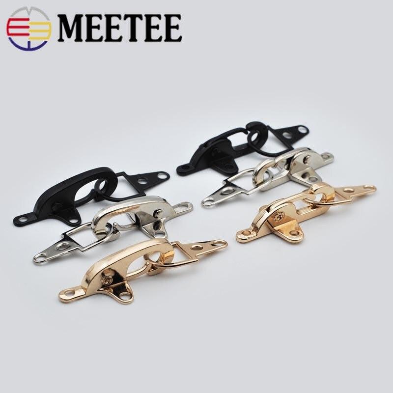 Meetee-hebilla de Metal de 4/5cm, broche de langosta, cinturón de broche, cerrojo de decoración, botón para abrigo, chaqueta, accesorios de costura, 2 uds.