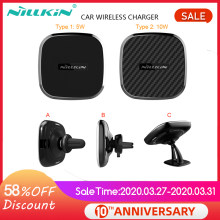 NILLKIN 5W 10W Magnetic Qi Wireless Car Charger สำหรับ Samsung หมายเหตุ 10 S10 S9 PLUS Air Vent mount สำหรับ iPhone XS MAX สำหรับ Mi 9(China)