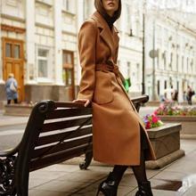 Cashmere autumn winter woolen coat female Mid-Long New Korean temperament womens popular MX17D9636