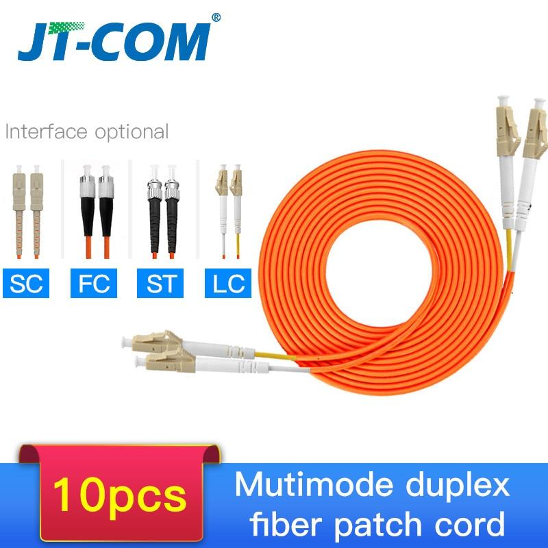 10pcs 1000Mbps OM2 LC-LC Fiber Cable Multimode Duplex Fiber Optic Patch Cord LC-FC LC-SC LC-ST Multimode Simplex Fiber Cable