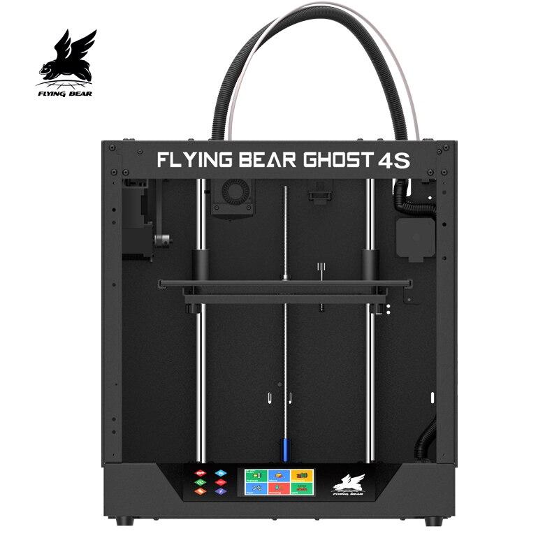 Navio do Armazém DA Rússia e DA UE KIT DIY 3D ПРИНТЕР Flyingbear-Ghost4S kit Impressora 3d com Tela Sensível Ao Toque