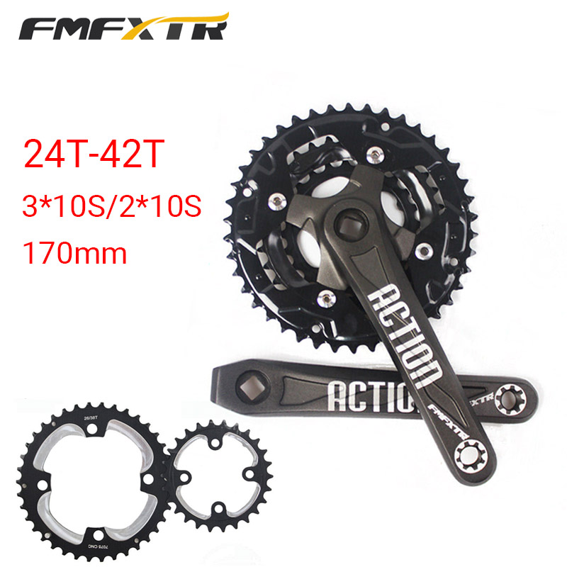 IXF 104//64bcd 170mm Aluminum Triple Speed MTB Road Bike Chainring Crank Crankset