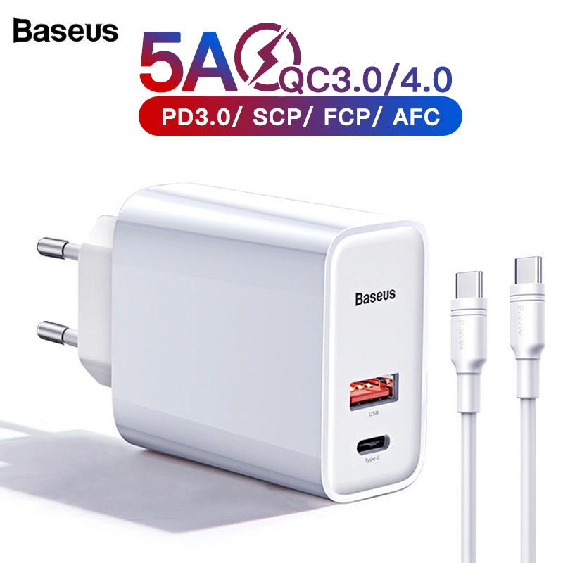 Baseus Rápida 11 Pro Max Carga 4.0 3.0 Carregador USB Para iPhone Samsung Huawei SCP QC4.0 QC3.0 QC C PD rápido Carregador de Telefone Celular