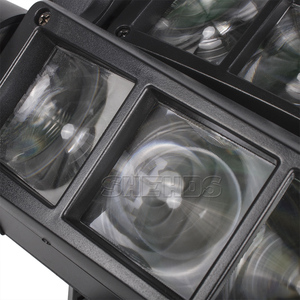 Image 5 - משלוח מהיר מיני LED קרן עכביש 8x10W RGBW הזזת ראש תאורת LED שלב אור טוב למסיבות DJ דיסקו חתונה קישוט