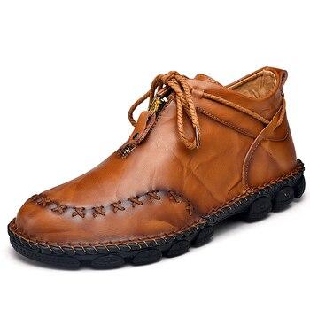 2019 Winter Men's Boots Warm Shoes Men's Comfortable Light Boots Men's Casual Breathable Men's Boots Large Size 38-48