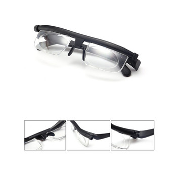 Adjustable Strength Lens Eyewear Variable Focus Distance Vision Zoom Glasses Protective Magnifying Variable Focus Glasses