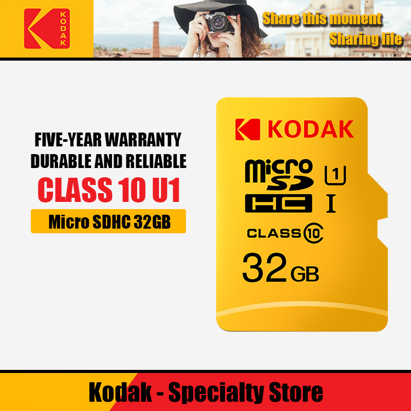 Kodak Haute Vitesse 16GB Micro SD CARTE 32GB cartao de mémoire class10 U1 64GB TF Carte Mémoire Flash 128 go mecard tarjeta Micro sd