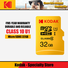 Kodak – carte Micro SD, 16 go/32 go/64 go/128 go, classe 10, TF, haute vitesse, mémoire Flash