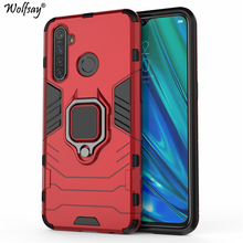 Wolfsay For Realme 5 Pro Case,  OPPO Realme Q Car Holder Armor Cases H