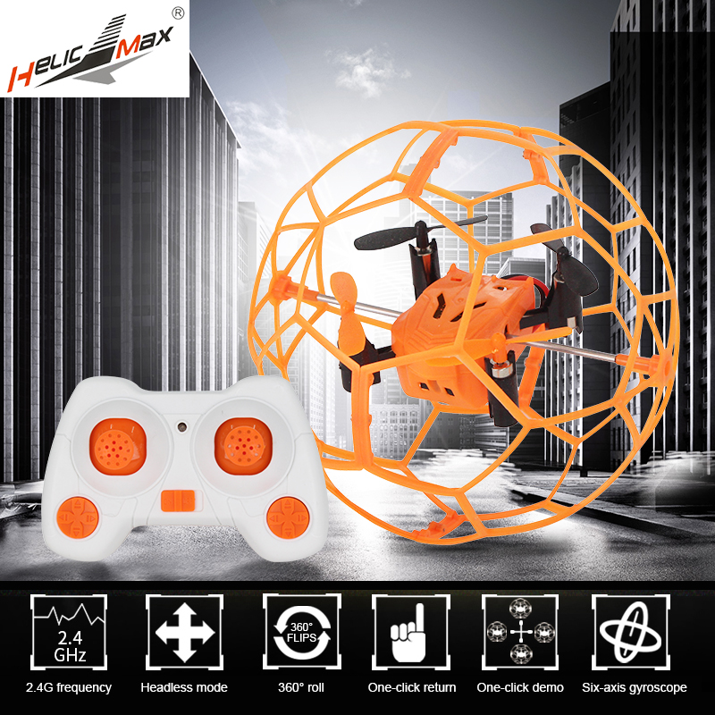 1340 Mini Drone Toy RC Quadcopter Headless Drone Toys Remote Control 2.4GHz 4CH RC Ball drone Flip Ball Helicopter For boy gift