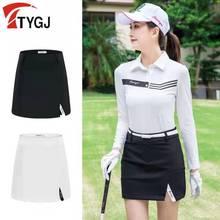 Golf-Skirt Sportswear Badminton Ladies Women's Summer Spring Elastic Mid-Waist Split