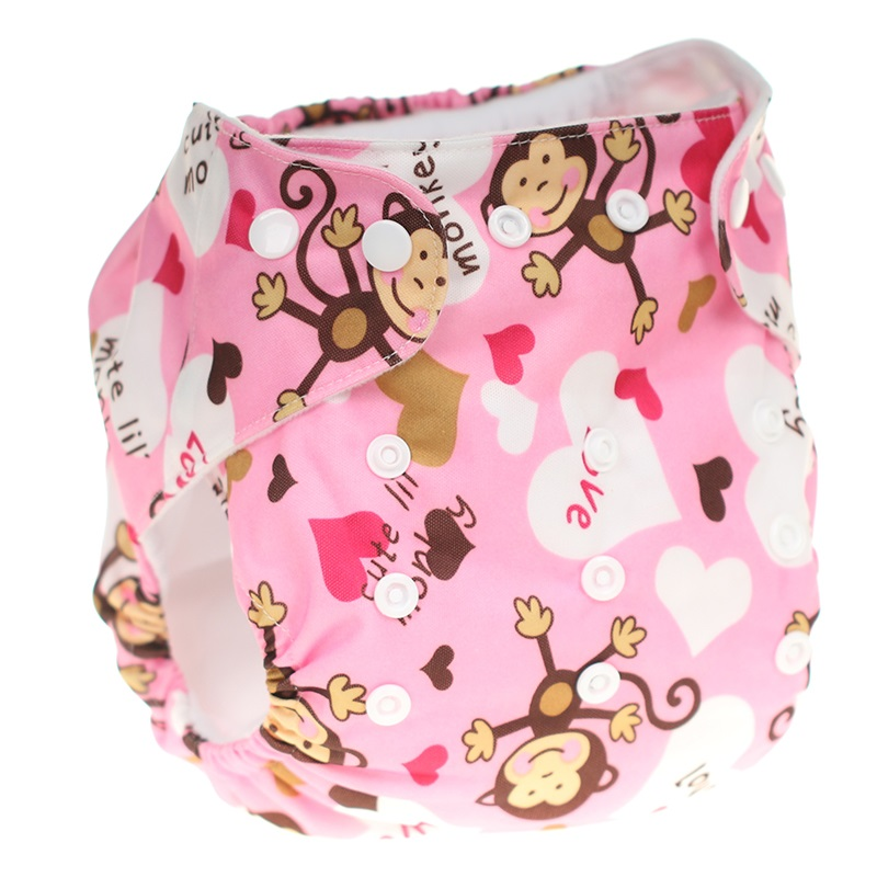 [CHOOEC] New Color Printing Baby Washable Reusable Pocket Cloth Diapers Double Breasted Digital Integrated Flower Pattern Pant