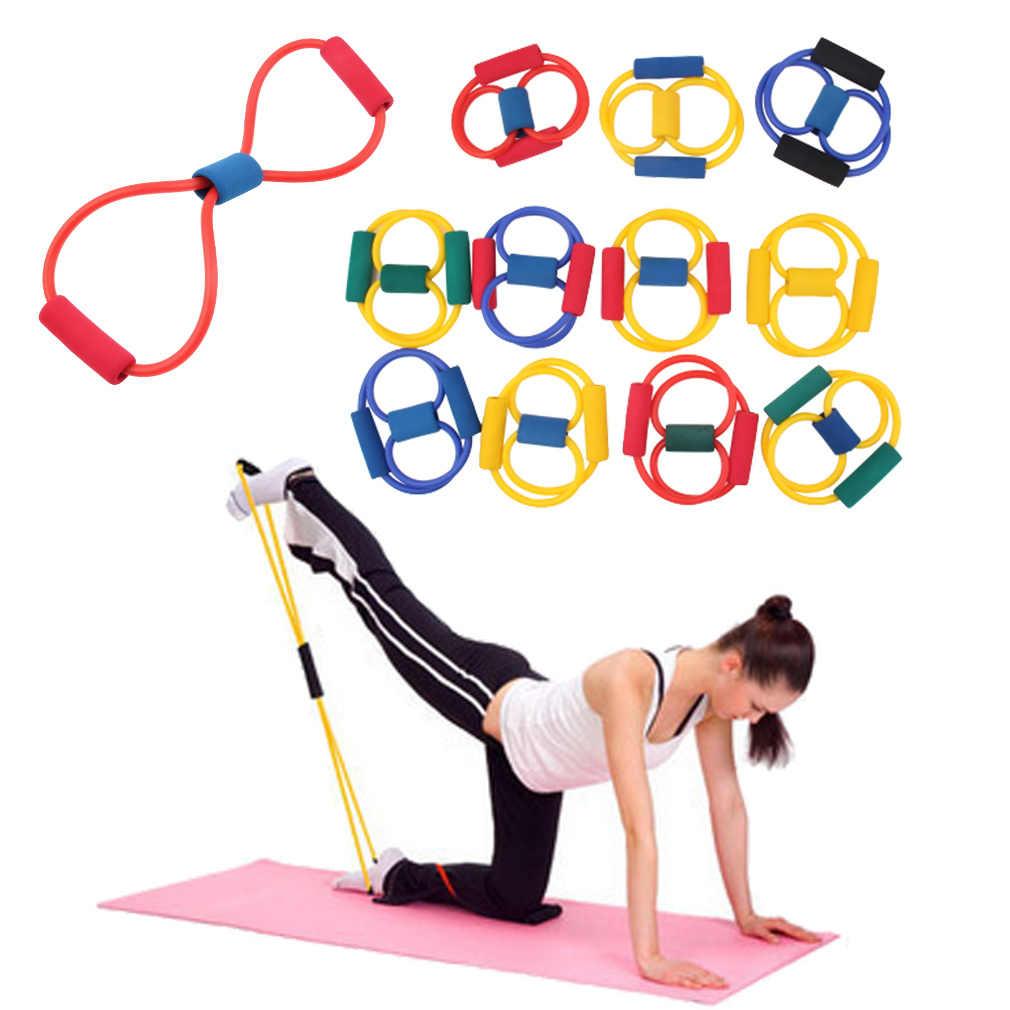 1 pièce résistance bande bande sport elastico para exercicios Yoga Pilates Abs exercice étirement Fitness équipement Tube bandes d'entraînement