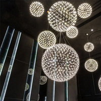 Garland Spark Round Balls Chandelier Kids room Bedroom Hall moon light fixtures indoor home Designer Star Chandelier lamp