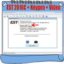 Полнофункциональный 2016C для электронного сервисного инструмента Perkins EST, диагностическое программное обеспечение + Активный генератор ключей + Видео установки