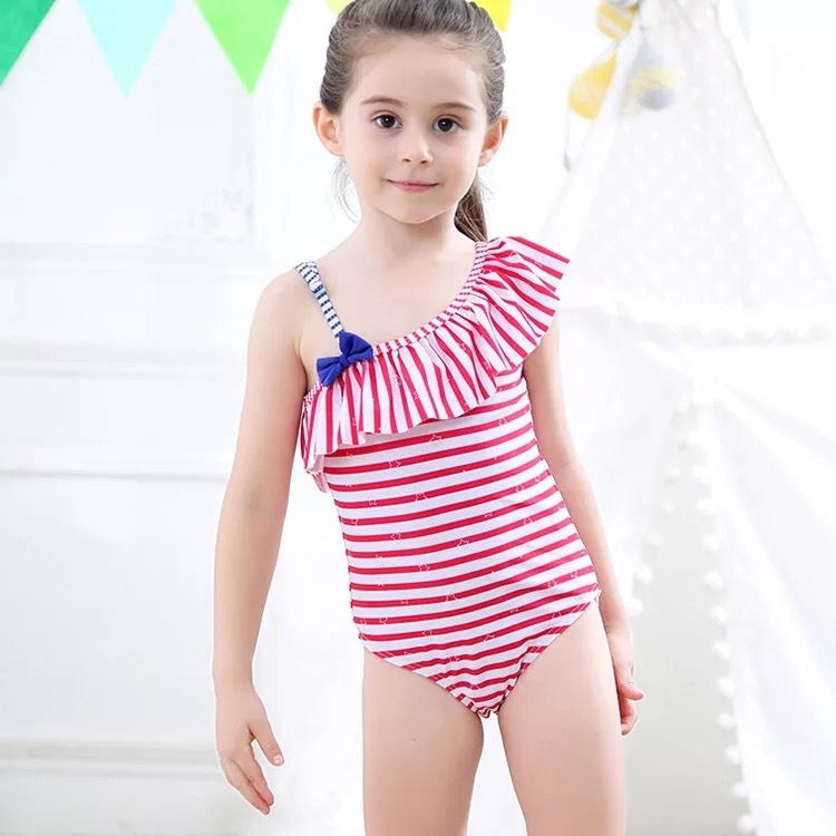 2019 Summer New Style Children Profession Tour Bathing Suit Women's Korean-style Hipster Children One-piece Swimming Suit Girls