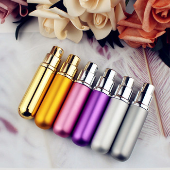 1PC 5ml 6ml Perfume Spray Bottle Portable Refillable Glass Bottle Empty Cosmetic Containers Travel Aluminum Perfume Atomizer 3
