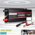 Inversor do carro 12 v 220 v 6000 w potência de pico inversor transformador de tensão 12 v/24 v a 110 v/220 v inversor + display lcd