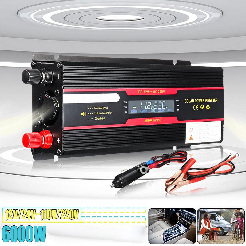 inversor do carro 12 v 220 v 6000 w potencia de pico inversor transformador de tensao