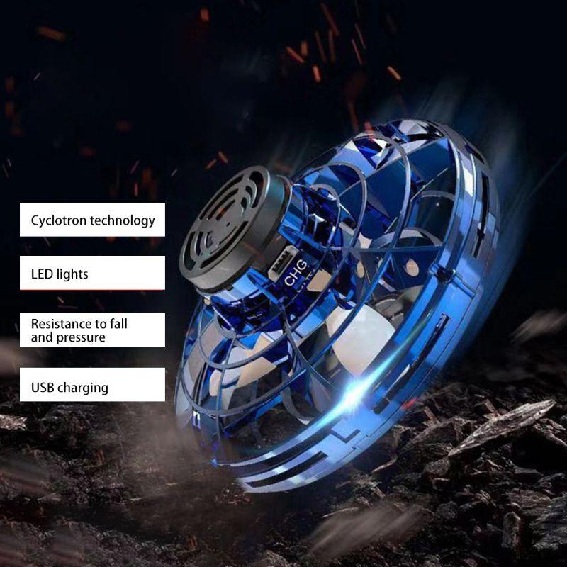 Hot DealsHelicopter Spinner Aircraft-Toy Drone Flight-Gyro Gift LED Fingertip-Upgrade Flying Flynova