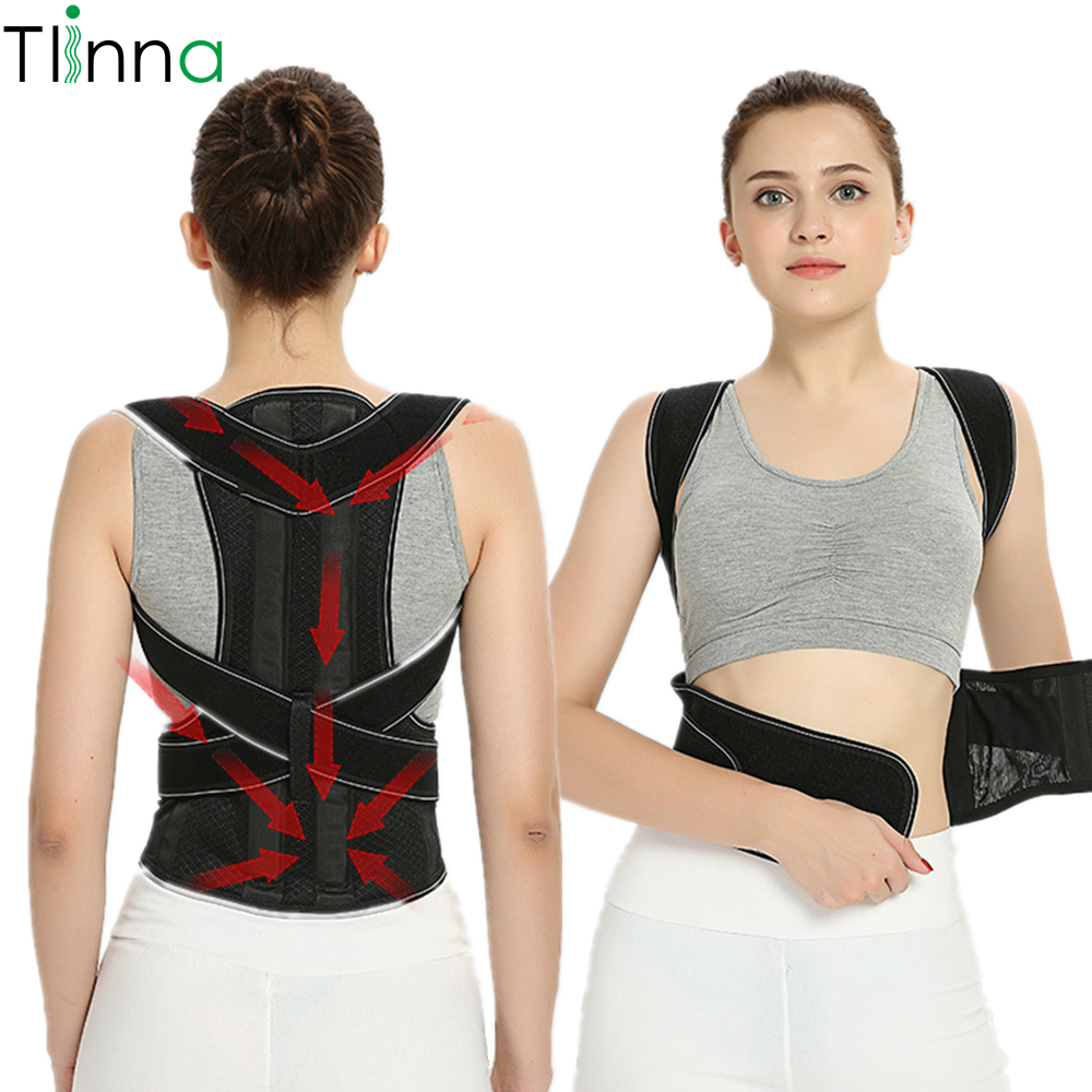 Tlinna Adjustable Posture Corrector Belt Made of Breathable Neoprene with 2 Aluminum Support Plate to Maximize Flexibility Helps to Shape Body Posture 1