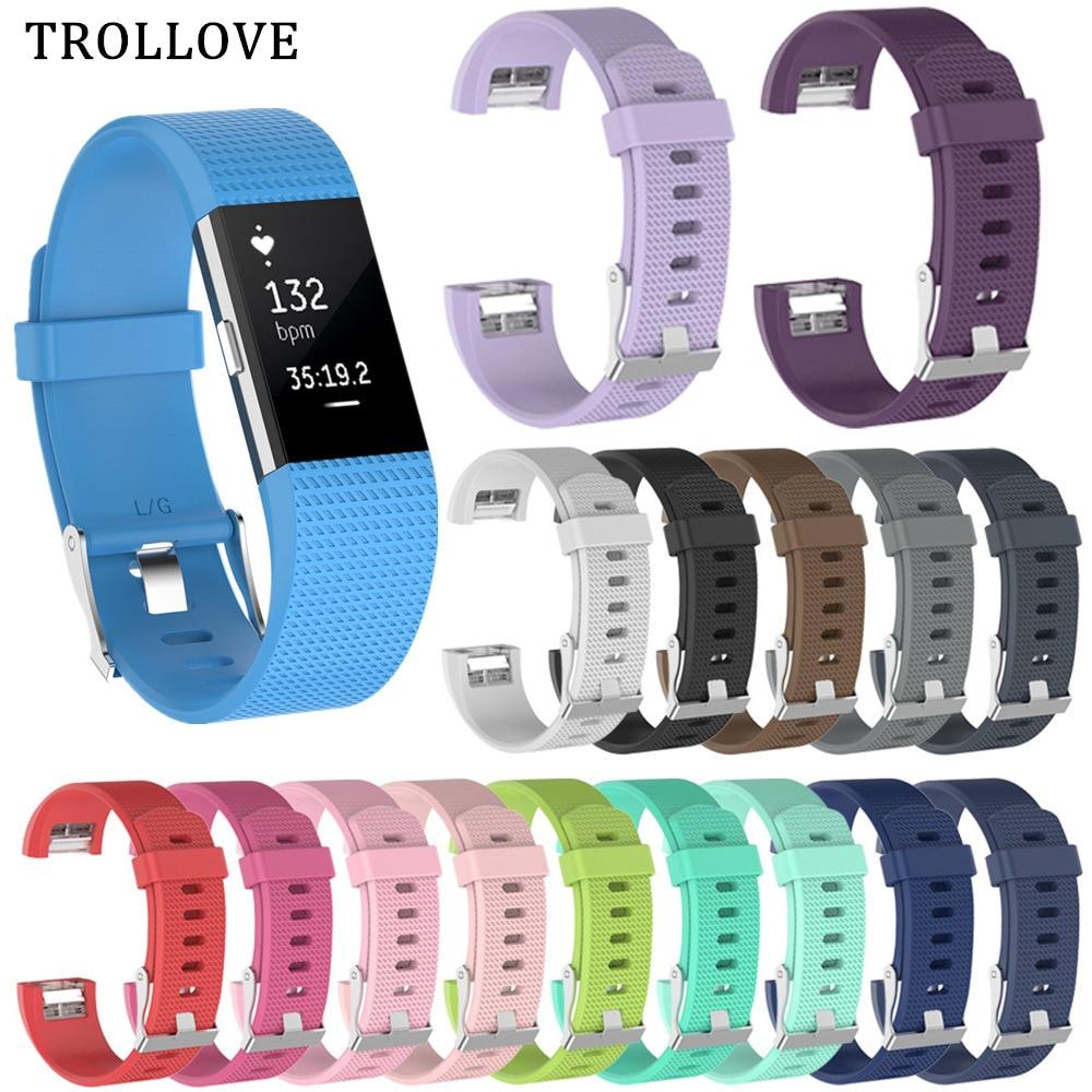 Substituição pulseira de relógio para fitbit carga 2 pulseira de silicone macio pulseira de pulso para ajuste bit carga 2 acessórios inteligentes