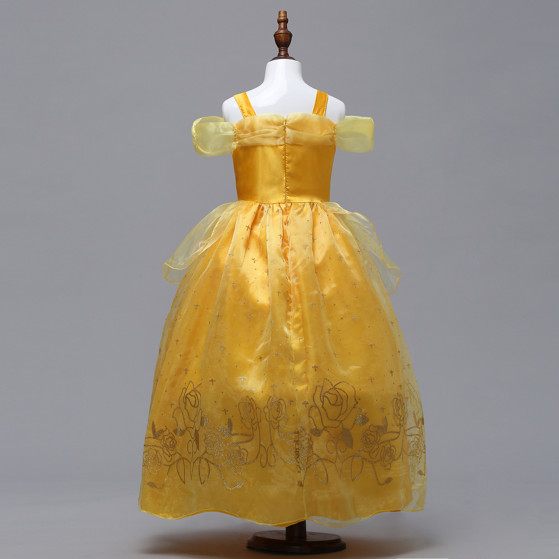 Halloween Girls COS Clothing Princess Dress Beauty And The Beast Dress Camisole Off-Shoulder CHILDREN'S Costume