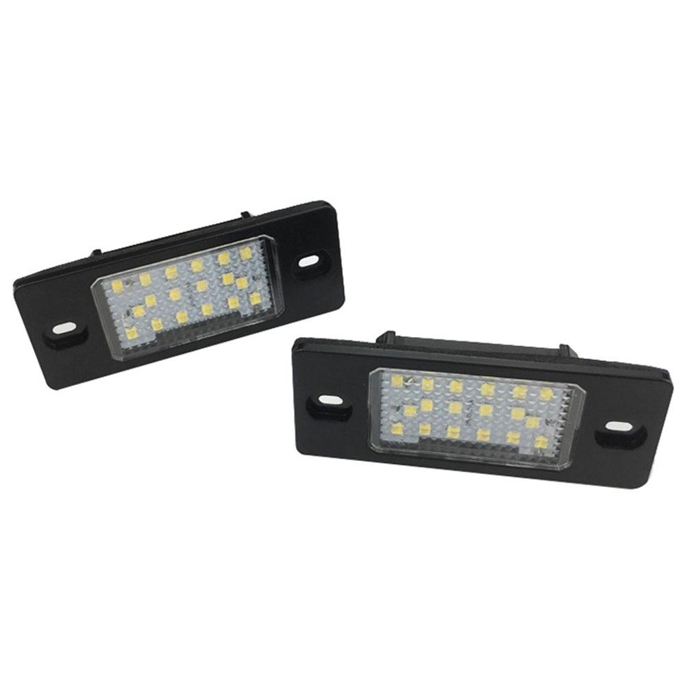 2Pcs Lights Accessories LED License Plate For Porsche Cayenne Golf Tiguan Touareg Passat Toyota for Ford Benz Audi BMW Car-Styli