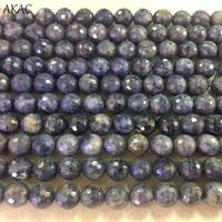 AKAC 8 8.5mm natural faceted blue sapphire gemstone loose beads for jewelry diy making