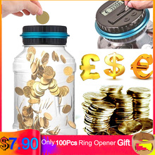 2.5L Piggy Bank Portable LCD Display Electronic Digital Counting Coin Money Saving Jar Coins Storage Box For USD EURO GBP AU