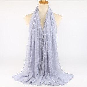 Image 5 - Écharpe en mousseline de soie, 10 pièces, voile, Hijab, malaisie doux, foulard musulman, Long, bandeau arabe, vente en gros