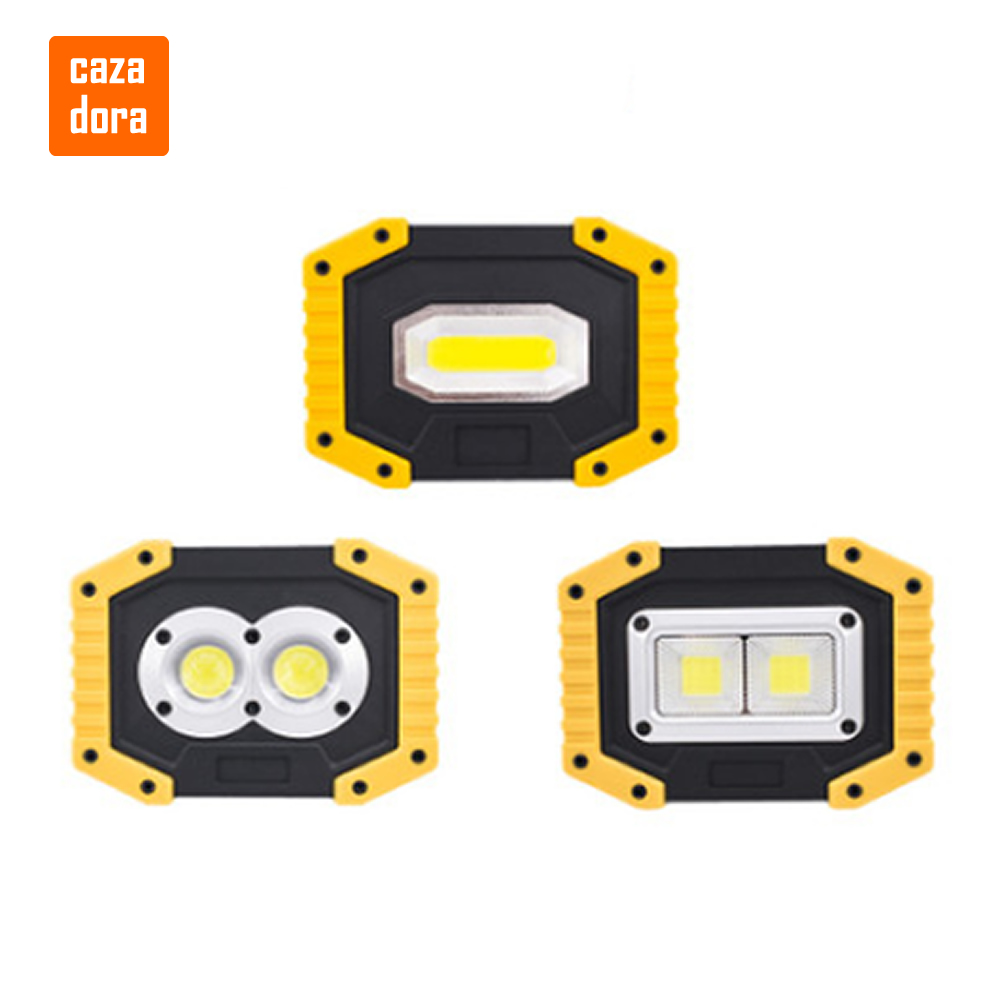 100W Led Portable Spotlight COB 7000lm Super Bright Led Work Light Flood Lights Rechargeable for Outdoor Lampe 18650 Emergency