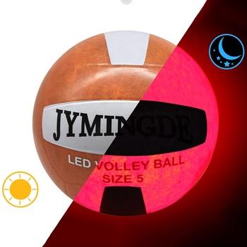 Świecące w ciemności piłka do siatkówki LED Light guma siatkówka rozmiar 5 piłki treningowe wodoodporna Luminous piłka do siatkówki piłka do siatkówki s tanie i dobre opinie machalon CN (pochodzenie) MVB-2003 Kryty piłka treningowa LED volleyball ball Offical Siez 5 Rubber Nylon 280g Rubber bladder