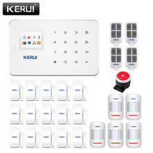 Kerui G18 Ứng Dụng Điều Khiển Nhà Hệ Thống Báo Động 433MHz GSM Trộm Alarme Phù Hợp Với Đầu Dò Chuyển Động Alarmas De Seguridad Para casa