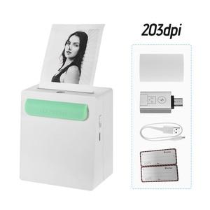 Image 2 - Mini Pocket Wireless BT Printer Portable Mini Camera Clip Design Label Memo Sticker AR Photo Printer for Android iOS Smartphone