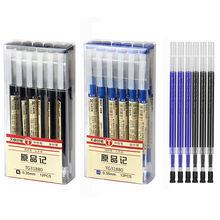 Тонкая гелевая ручка 035 мм с голубыми/черными чернилами стержень