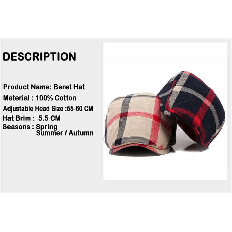 Uomo donna berretti scozzesi classici stile Englad berretti Casual Unisex cappellini sportivi cappelli in cotone Boina Casquette berretto piatto pittore Cap 2