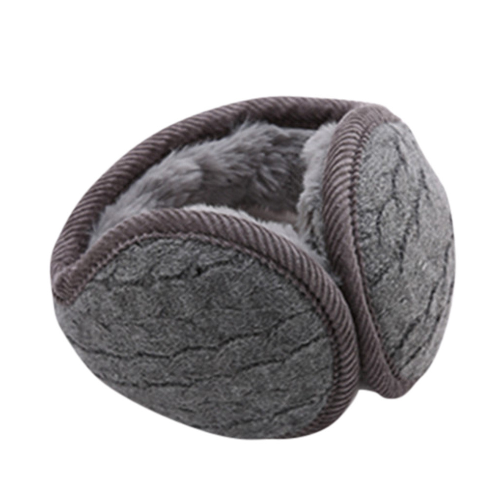 Foldable Unisex Knitted Thicken EarMuffs Winter Warm Plus Velvet EarMuff Women Men Windproof Soft Ear Muffs Adult Earmuffs