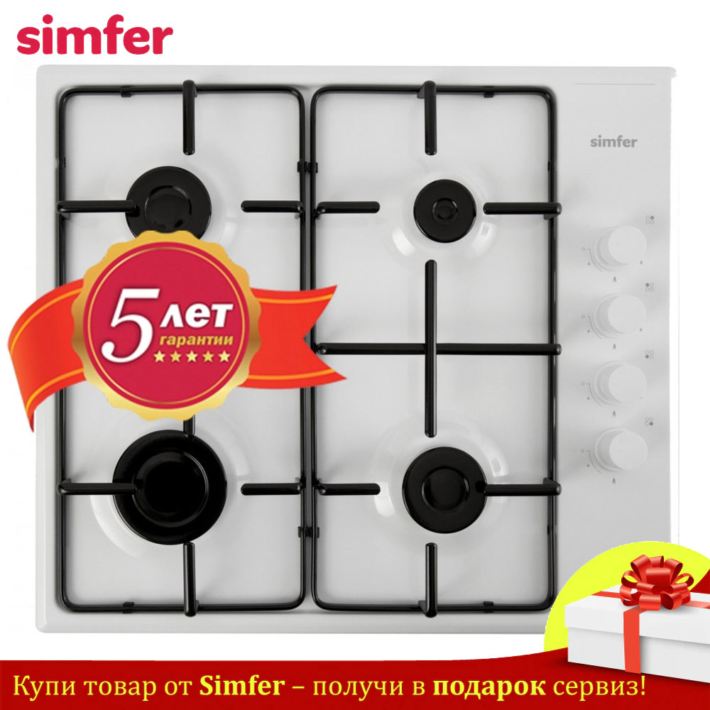 Bulit-in Hobs Simfer H60Q40W400 Gas Combined Hob For Home Kitchen Appliances