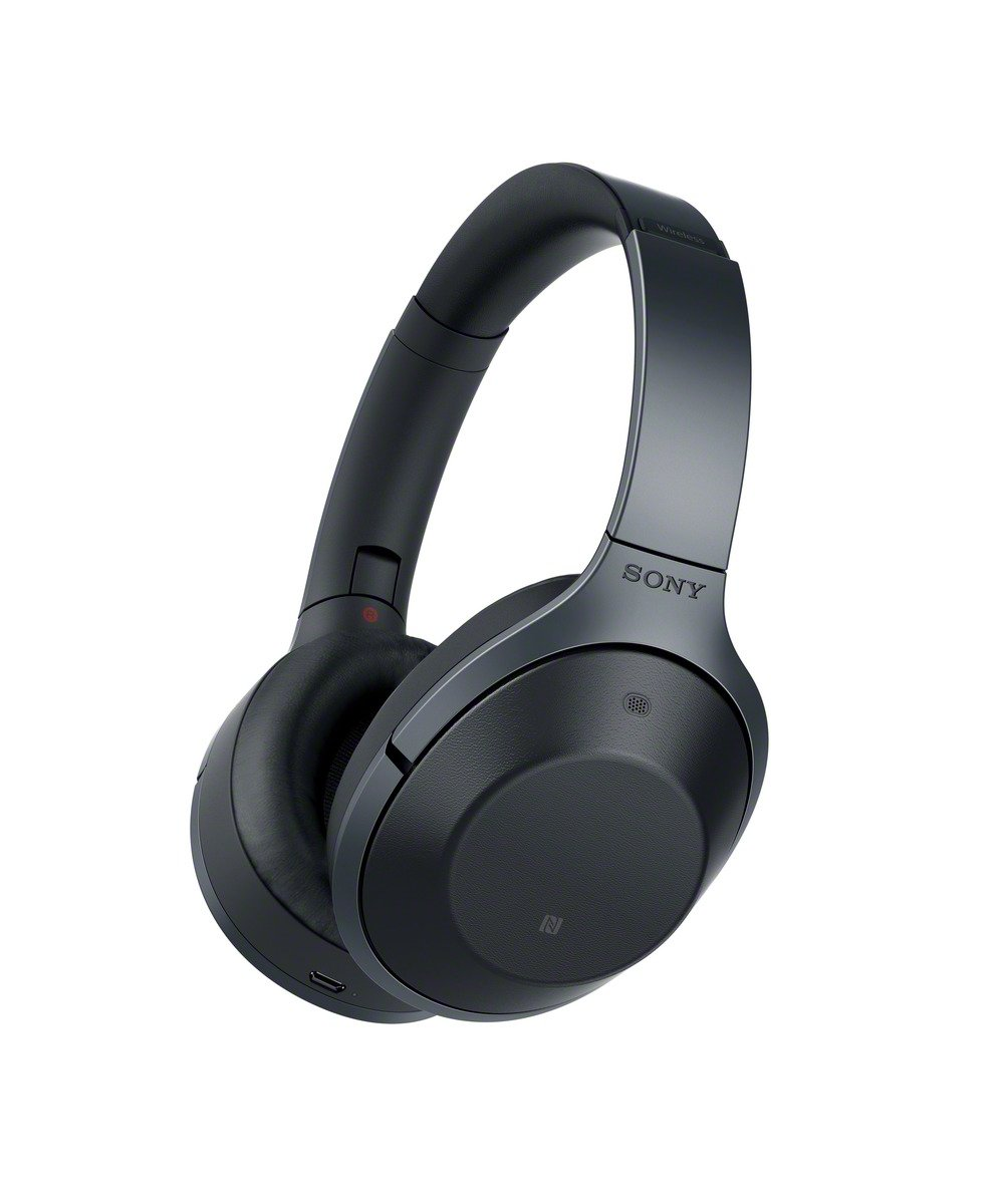 USED <font><b>Sony</b></font> Noise Cancelling <font><b>Headphones</b></font> <font><b>MDR</b></font>-<font><b>1000X</b></font> Wireless Bluetooth r <font><b>Headphones</b></font> with Mic and voice control Hi-Res (golden,black) image