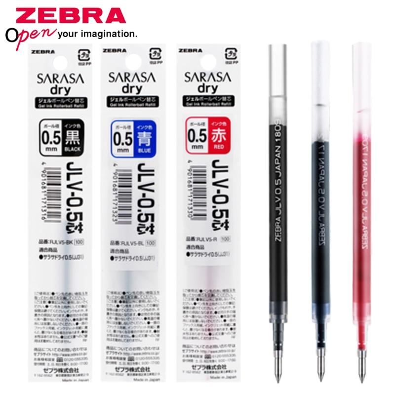 10 pcs lote zebra refill gel pen refill jlv 0 5 secagem rapida adaptacao jjz49 jjz33