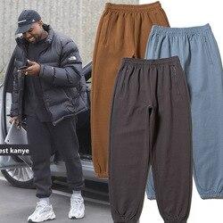 Сезон 6 Спортивные штаны для мужчин и женщин Kanye West однотонные высококачественные флисовые штаны