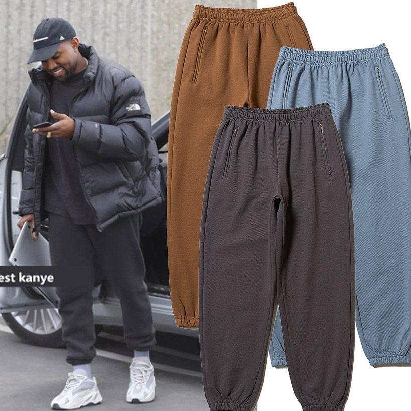 Season 6 Sweatpants Men Women Kanye West Pants Solid High Quality Fleece Pants