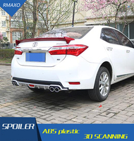 For Corolla Rear spoiler ABS Rear Bumper Diffuser Bumpers Protector For 2014-2017 Corolla small surrounded rear lip rear spoiler